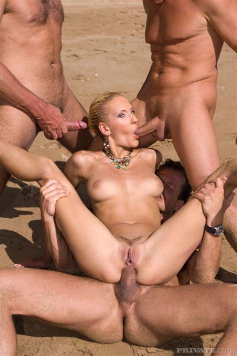Nasty Blond Beach Babe Fucked image #35491