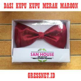 jual dasi kupu kupu merah maroon gressnet id id 011