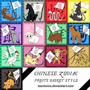 Fruits Basket Zodiac Stickers by ToonTwins on DeviantArt