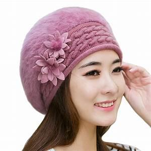Warm Winter Hats for Women 2017 Wool Knitted Beret Beanies ...