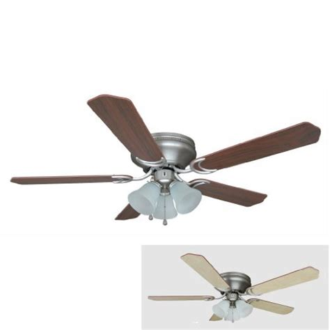 52 inch ceiling fan hardware house 17 4985 satin nickel flush mount ceiling