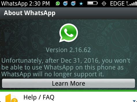 whatsapp will not work on these phones phones nigeria