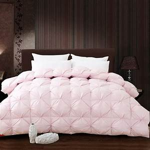 White, Pink, Grade, A, Natural, 95, Goose, Down, Comforter, Twin