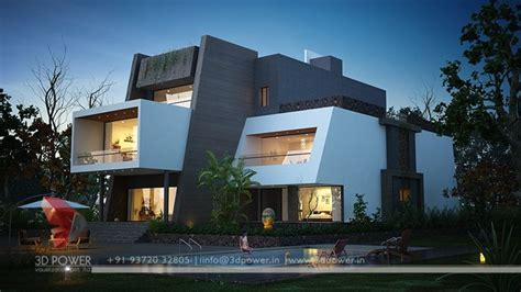 3d Ultra Modern Day And Night Rendering And Elevation