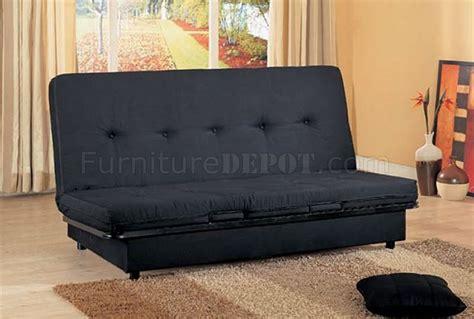 black convertible sofa bed  storage space