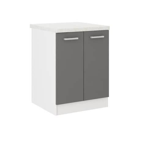 meuble cuisine 60 ultra meuble bas de cuisine l 60 cm avec plan de travail