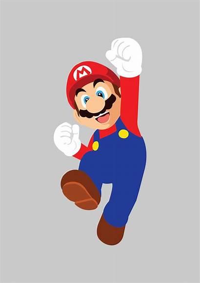 Mario Vector Super Characters Games Behance Stuff