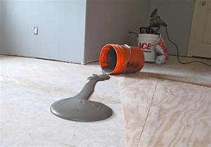 Helicopter pilot recesses lighting into wood floor for Floor leveling compound for wood subfloors