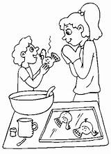 Coloring Pages Cooking Cook Clipart Sheet Popular Turkey Library sketch template