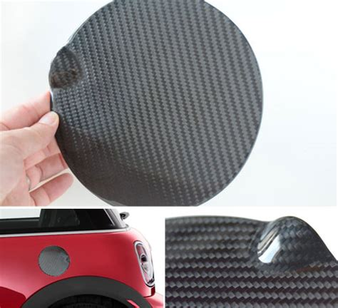 mini cooper carbon fiber gas lid cover flat style gas lid