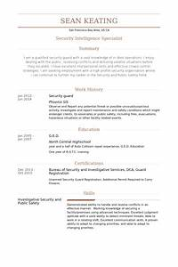 security guard resume samples visualcv resume samples With cv template for security guard