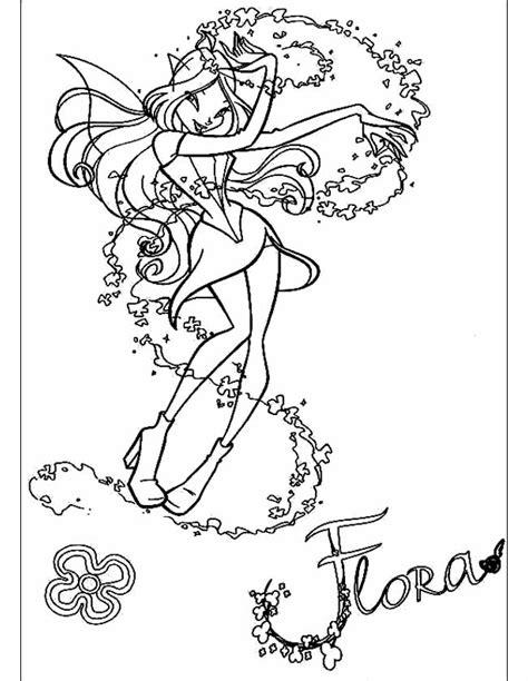 Winx Kleurplaat Bloom by Kleuren Nu Flora Winx Sierlijk Kleurplaten