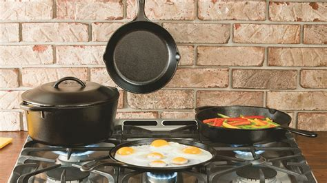lodge pots iron cast pans cookware pan recipes mini cake dutch kitchen ovens walmart own should griddle housekeeping recipe brand