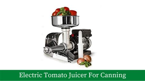 tomato canning electric juicer buyer guide recommendations