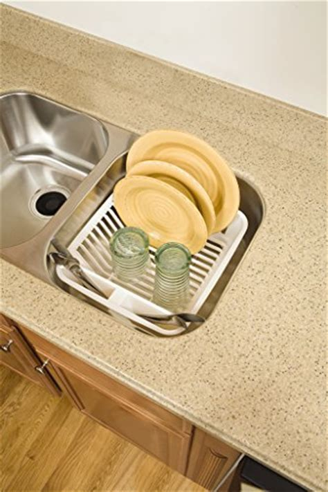 small kitchen sink and drainer rubbermaid antimicrobial in sink dish drainer small bisque 8092