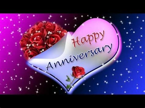 wedding marriage anniversary video youtube animated sparkling pictures happy