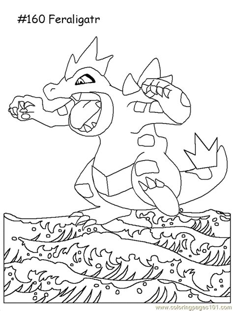 feraligatr coloring page  pokemon coloring pages