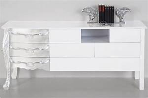 Buffet Salon Blanc : buffet baroque blanc laqu et argent buffet moderne declikdeco ~ Teatrodelosmanantiales.com Idées de Décoration