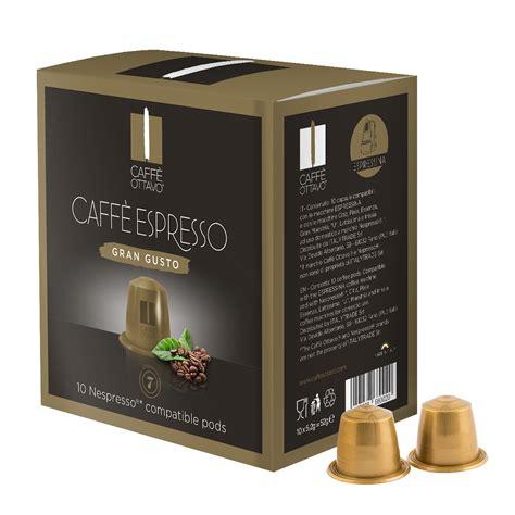 nespresso pack bureau caffè ottavo gran gusto coffee pods 10 pack