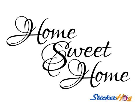 home sweet home wall quote vinyl wall decal 2 graphics home decor