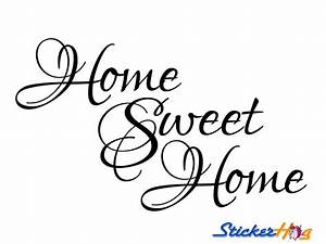 home sweet home wall quote vinyl wall decal 2 graphics With house wiring quotes