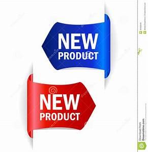 Etiquetas Del Vector Del Nuevo Producto Ilustración del