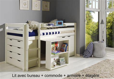 lit bureau but lit enfant combiné bureau et rangement theo en pin massif