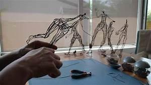 Fabriquer Un Treillage En Fil De Fer : artiste delf sculpture fil de fer lampes d co design youtube ~ Voncanada.com Idées de Décoration