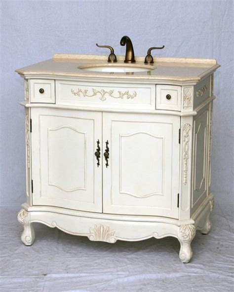 Distressed Bathroom Vanity 36 by 36 Quot Inch Bathroom Vanity Antique White Distressed Color