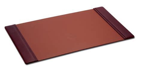 p3025 mocha leather 38in x 24in side rail desk pad
