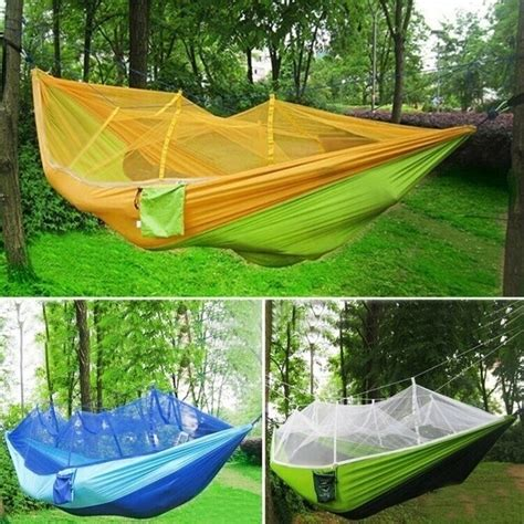 Sleeping Hammock by Portable Travel Cing Fabric Parachute Hammock