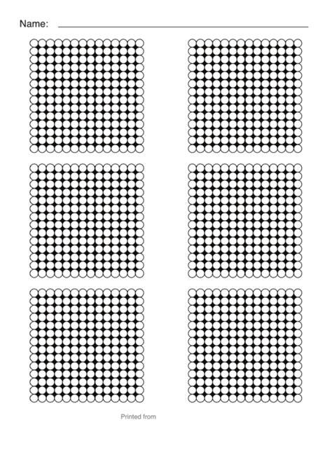 perler bead templates small hexagon sheet printable