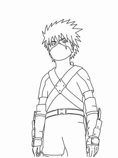 Naruto Coloring Kakashi Drawing Printable