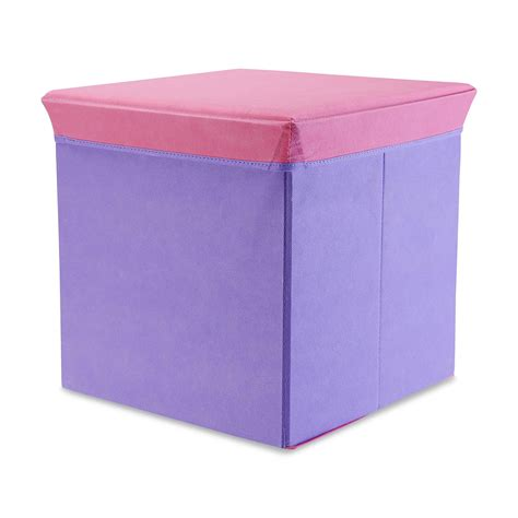 Purple Storage Ottoman by Bintopia Folding Storage Ottoman Purple W Pink Lid