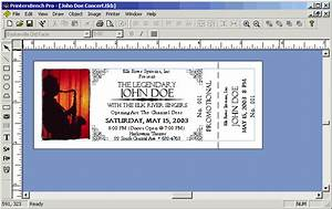 image detail for event ticket stub template software With templates for tickets with stubs