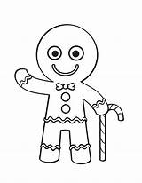 Gingerbread Coloring Man Pages Candy Cane Christmas Printable Mr Line Cookie Drawing Hallo Say Getcolorings Male Woman Story Colo Canes sketch template
