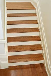White Oak Stair Treads Craftsman Staircase Other