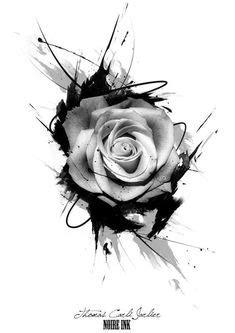 Resultado de imagem para desenhos de rosas sombreadas   Ideias de tatuagens   Pinterest