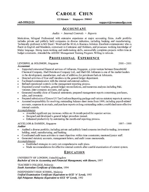 Resume Exles by Professional Resume Exle Learn From Professional Resume Sles