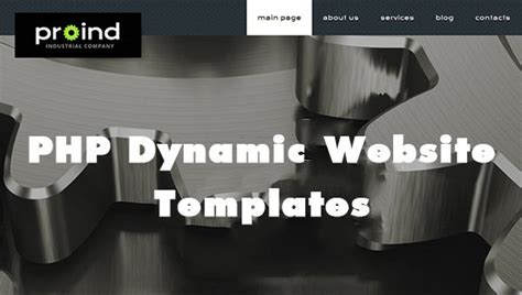 php dynamic website templates themes  premium