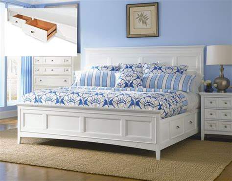 storage drawers white queen bed  bed   pinterest