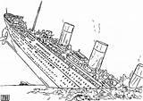 Coloring Pages Titanic Ship Sunken Sinking Drawing Battleship Battle Printable Ships Getdrawings Wars Star Getcolorings Naval sketch template