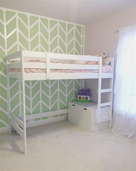 ikea mydal loft bed hack   girls room