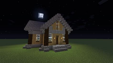 Minecraft Building Tutorial-- Old Fashion Wood House
