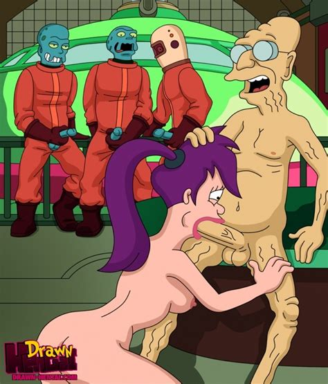 Drawn Hentai Hubert Farnsworth And Aliens Fuck Leela