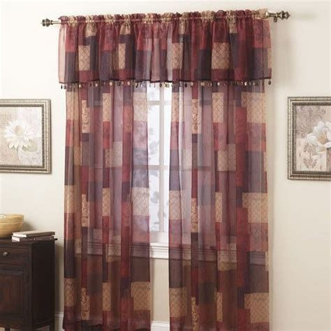 burgundy window sheer panel 25 00 home