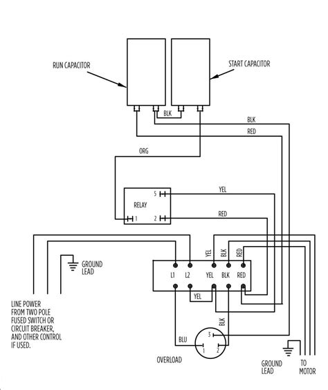 electric motor single phase wiring diagram impremedia net
