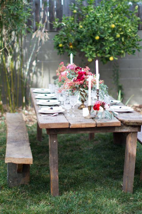 Backyard Table by Backyard Dinner Inspiration Florals 100