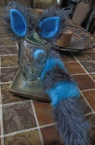 cheshire cat costume blue and grey cheshire cat gray blue striped luxury shag faux fur by