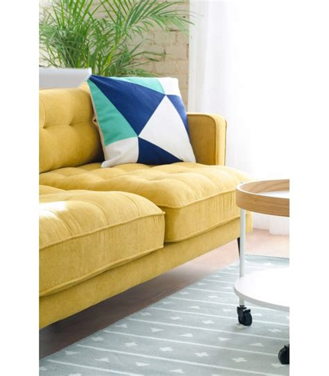 sofa 3 plazas desenfundable sof 225 3 plazas mostaza desenfundable con patas de metal